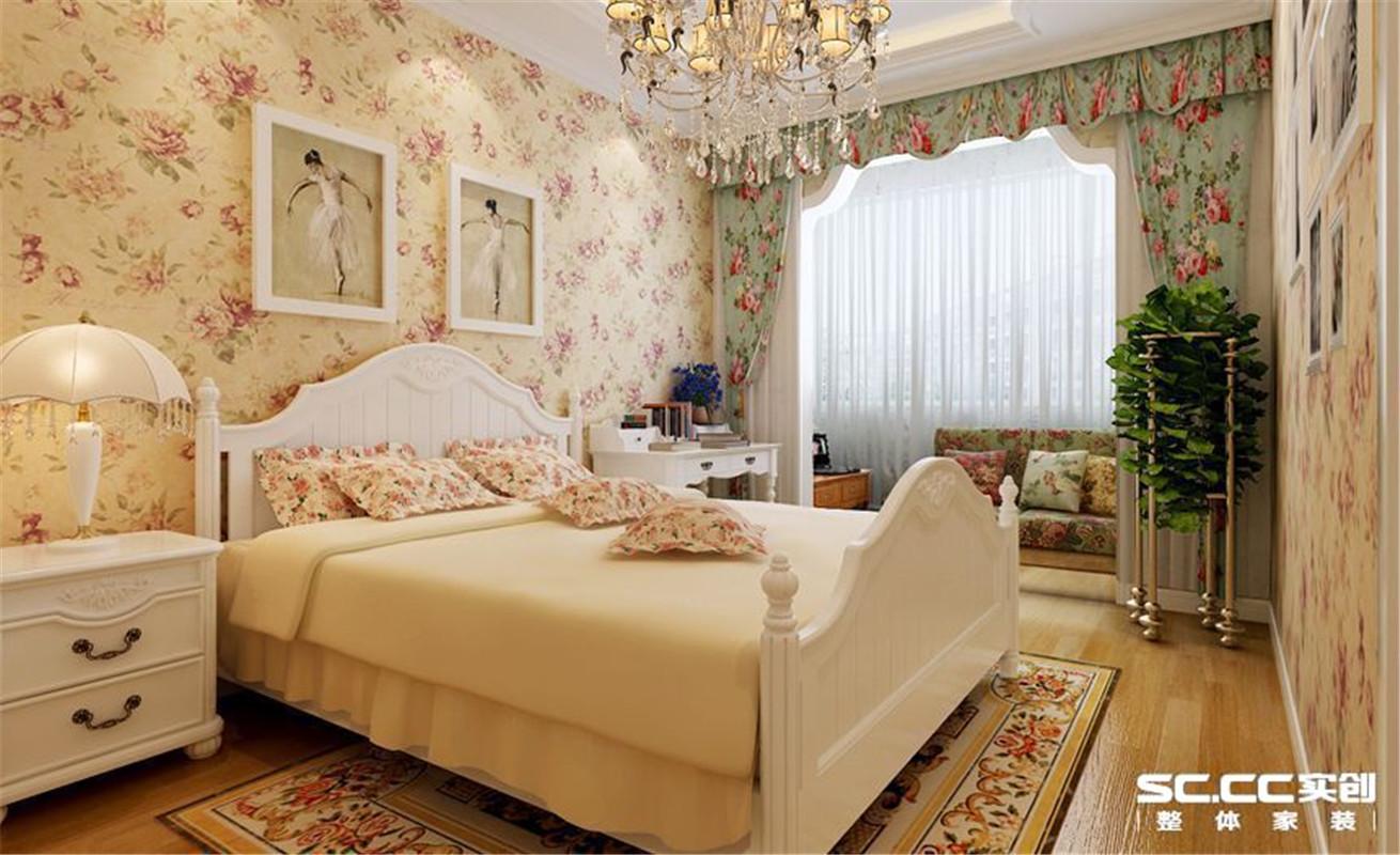 乡村田园 两居 整体家装 卧室图片来自郑州实创装饰啊静在惬意乡村田园两居的分享