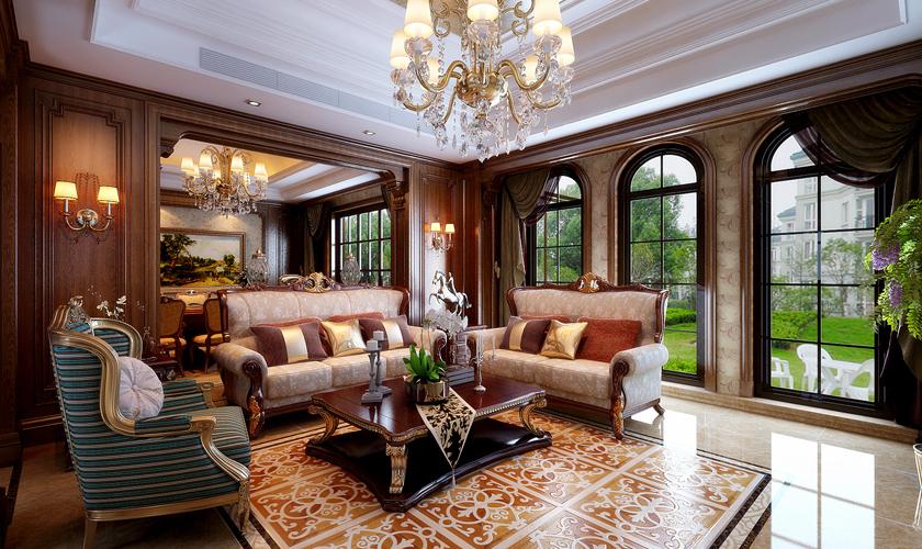 青岛装修 欧式 装饰公司 客厅图片来自青岛威廉装饰在龙湖别墅欧式设计的分享