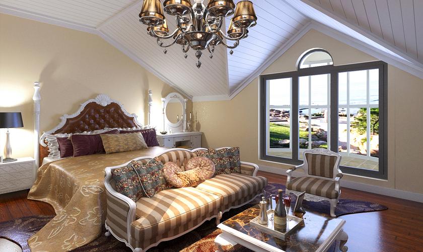 青岛装修 欧式 装饰公司 卧室图片来自青岛威廉装饰在海涛园复式欧式设计的分享