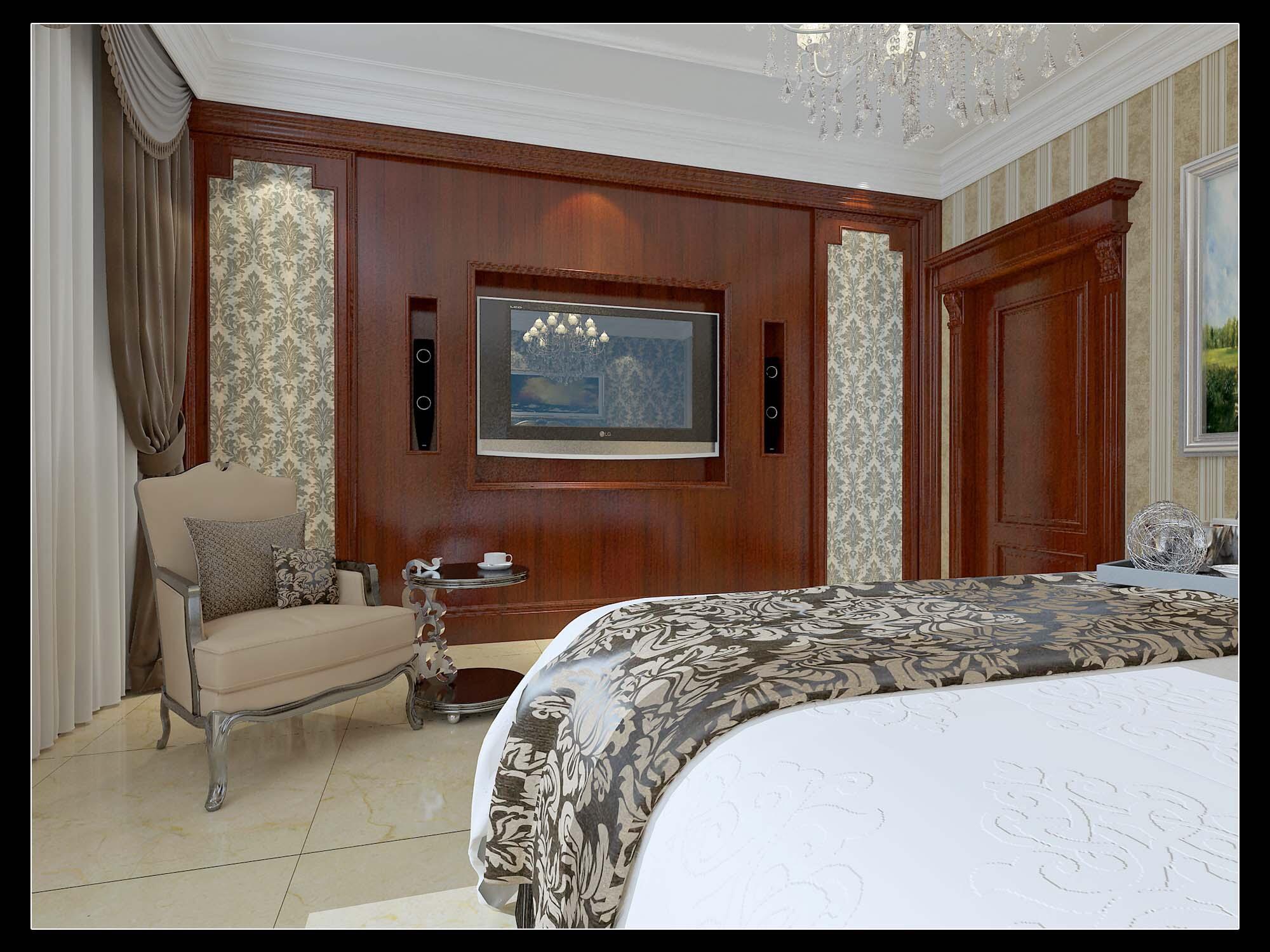 欧式 情调 高端 大气 卧室图片来自太原金尚装饰王卓娅在欧式简约-东湖花园-171平的分享