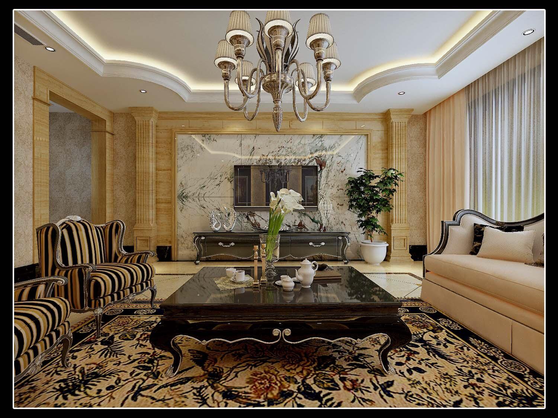 欧式 情调 高端 大气 客厅图片来自太原金尚装饰王卓娅在欧式简约-东湖花园-171平的分享