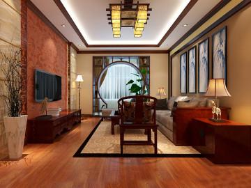 时尚典雅新中式,古典风情三居