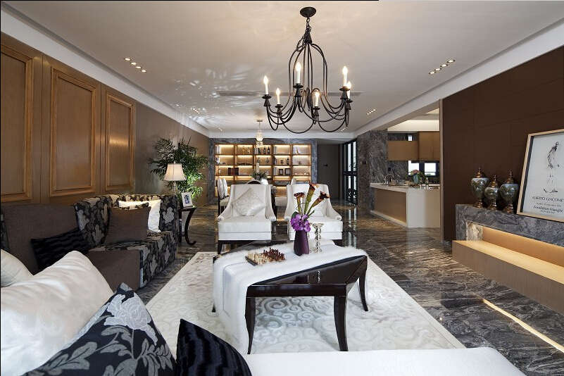 简约 欧式 美式 混搭 大户型 白领 80后 客厅图片来自成都V2装饰在美式混搭风格装修的分享