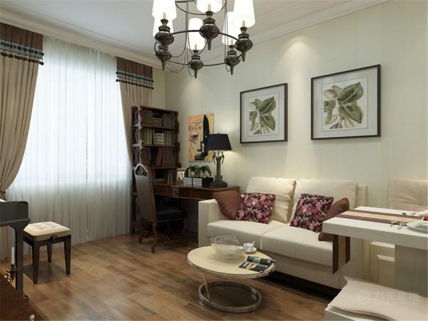 本户型是来自梦溪园1室1厅1厨1卫58㎡的户型,整体的设计主题是围绕着美式风格来设计的
