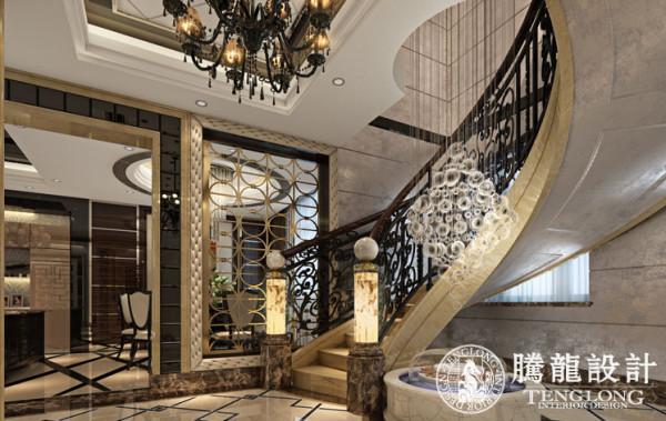 东方别墅370平欧式古典风格装修设计方案展示,腾龙设计师刘真桢设计案例,欢迎品鉴!