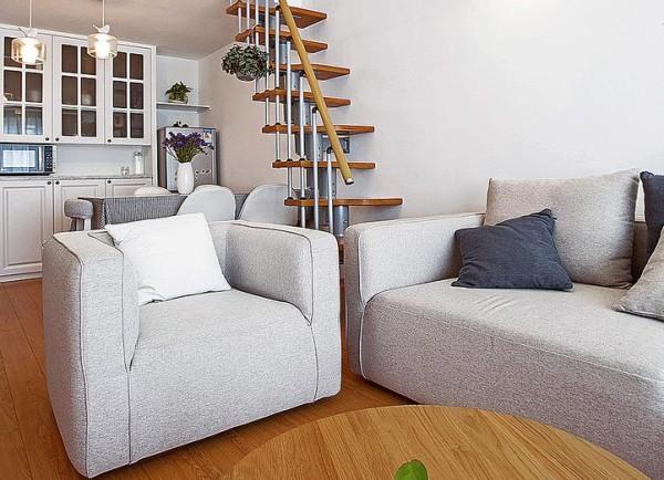 沙发文艺而舒适,体现了业主的生活品味。