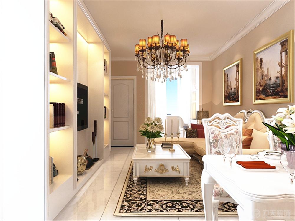 欧式 三居 白领 收纳 80后 小资 客厅图片来自阳光力天装饰在力天装饰-博德花园120.00㎡的分享