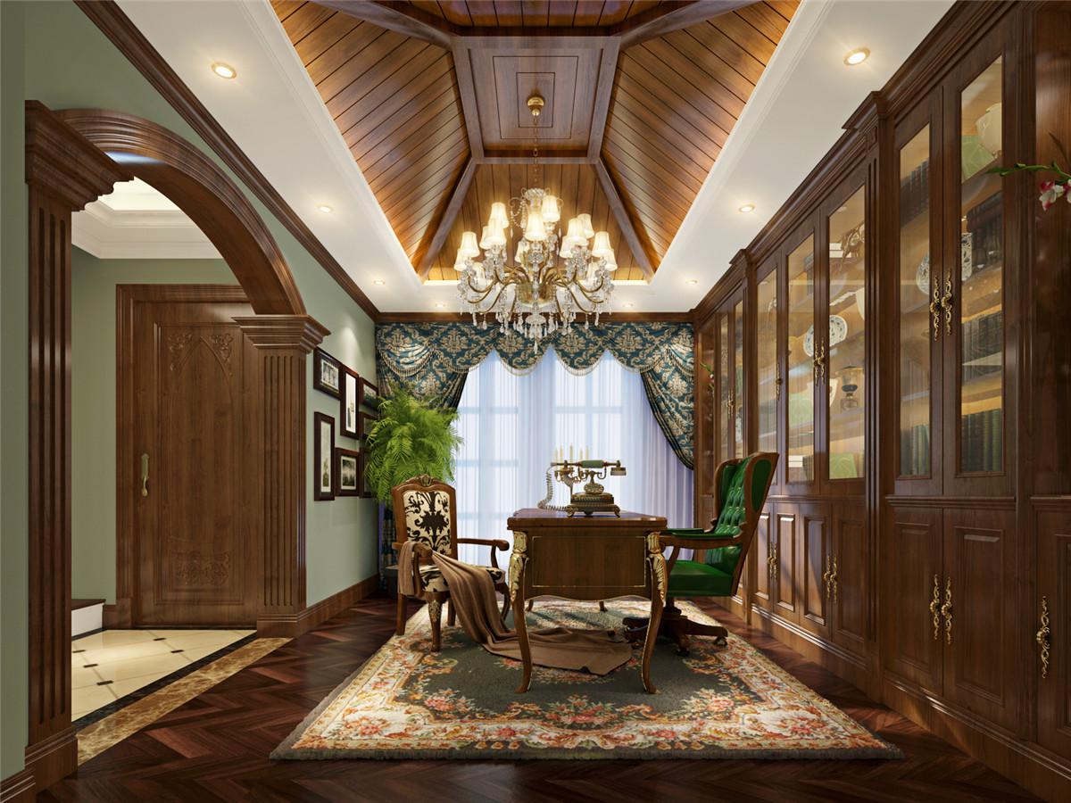 东郊紫园 别墅装修 别墅设计 美式风格 腾龙刘真桢 书房图片来自许 文斌在东郊紫园别墅装修美式风格设计的分享
