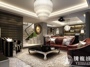 中科大学城别墅装修现代风格设计