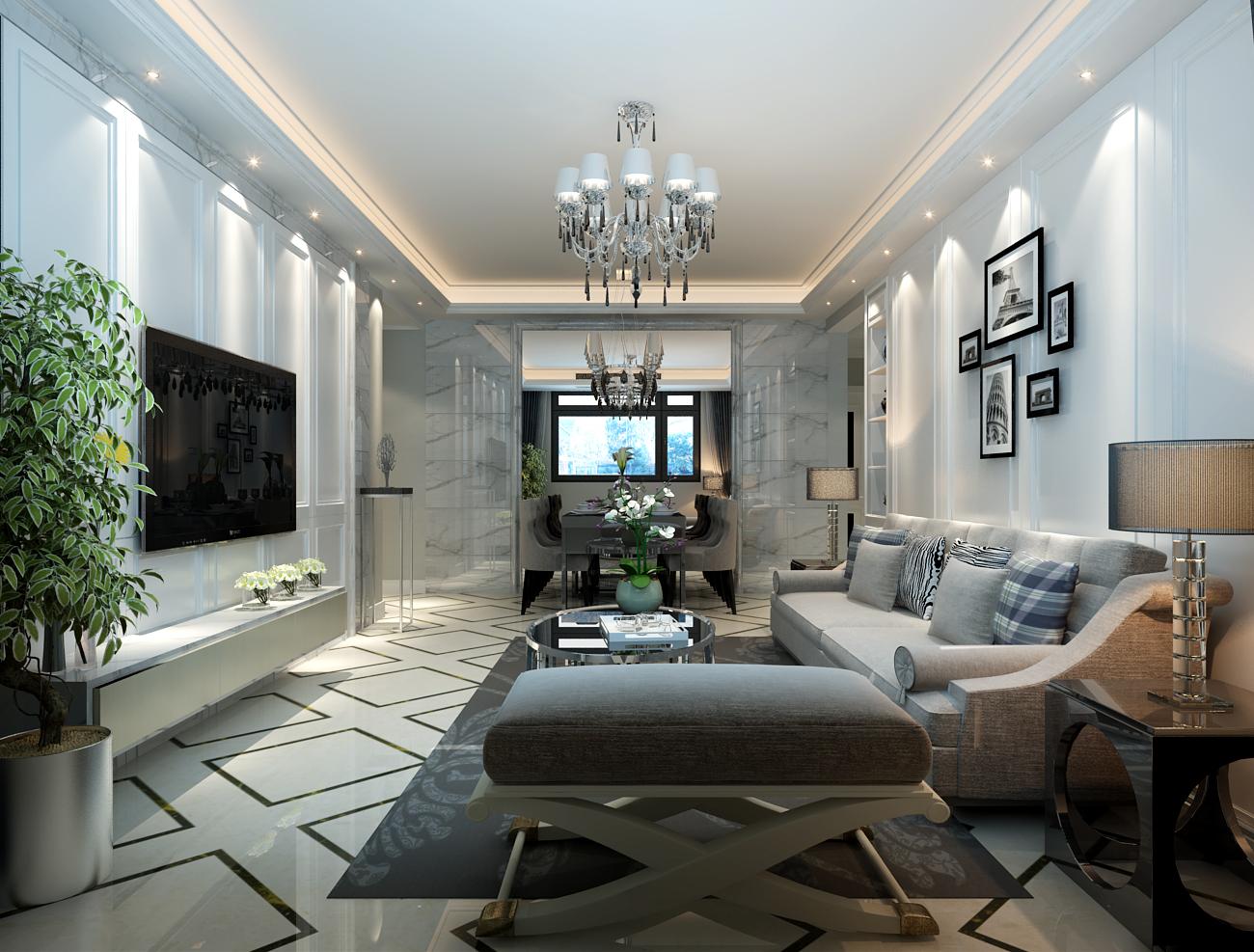 二居 简约 客厅图片来自乐豪斯装饰张洪博在盛益华苑现代素雅主义的分享
