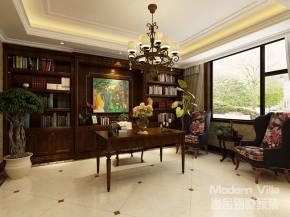 美式 自由 温馨 舒适 书房图片来自山东济南尚舍别墅装饰在滨海望海花园别墅的分享