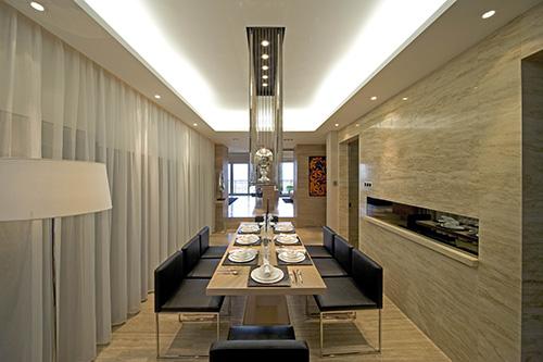 小资 别墅 白领 餐厅图片来自上海本意空间建筑装饰有限公司在领秀城国际旅游度假社区的分享