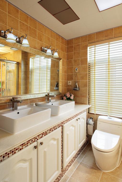 简约 欧式 田园 三居 旧房改造 卫生间图片来自今朝装饰小张在145平 田园风格的分享