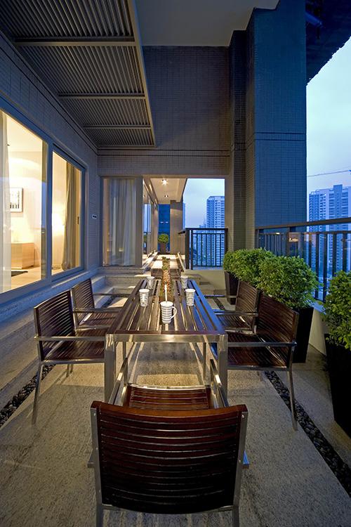 小资 阳台图片来自上海本意空间建筑装饰有限公司在领秀城国际旅游度假社区的分享