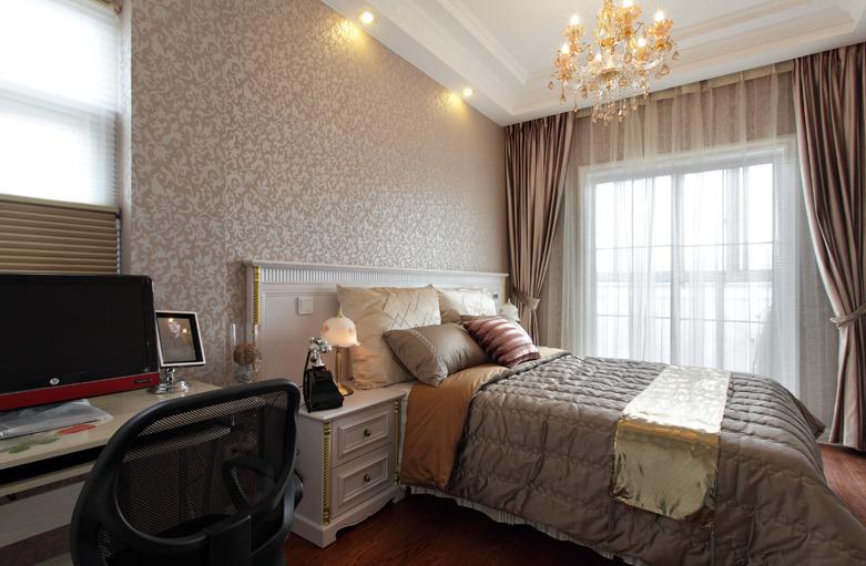 简约 欧式 田园 三居 旧房改造 卧室图片来自今朝装饰小张在145平 田园风格的分享
