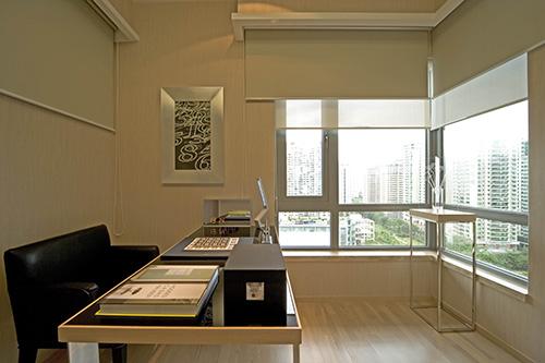小资 别墅 白领 书房图片来自上海本意空间建筑装饰有限公司在领秀城国际旅游度假社区的分享