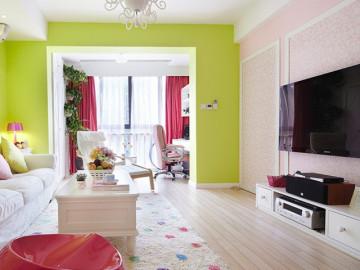 糖果色明亮简约风格一居室