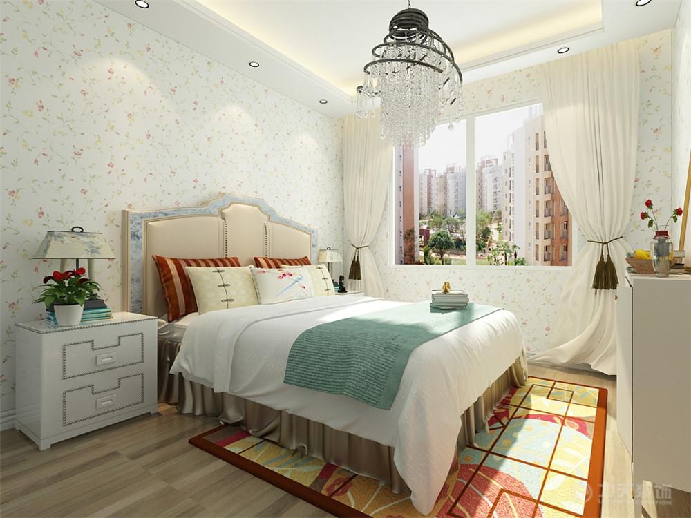 田园 一居 白领 收纳 80后 小资 卧室图片来自阳光力天装饰在力天装饰-荣雅园60㎡的分享