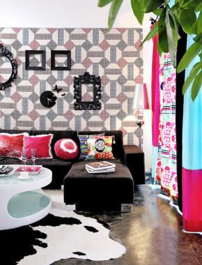 混搭 简约 文艺青年 色彩艺术 客厅图片来自业之峰装饰旗舰店在文艺小青年色彩艺术两居的分享