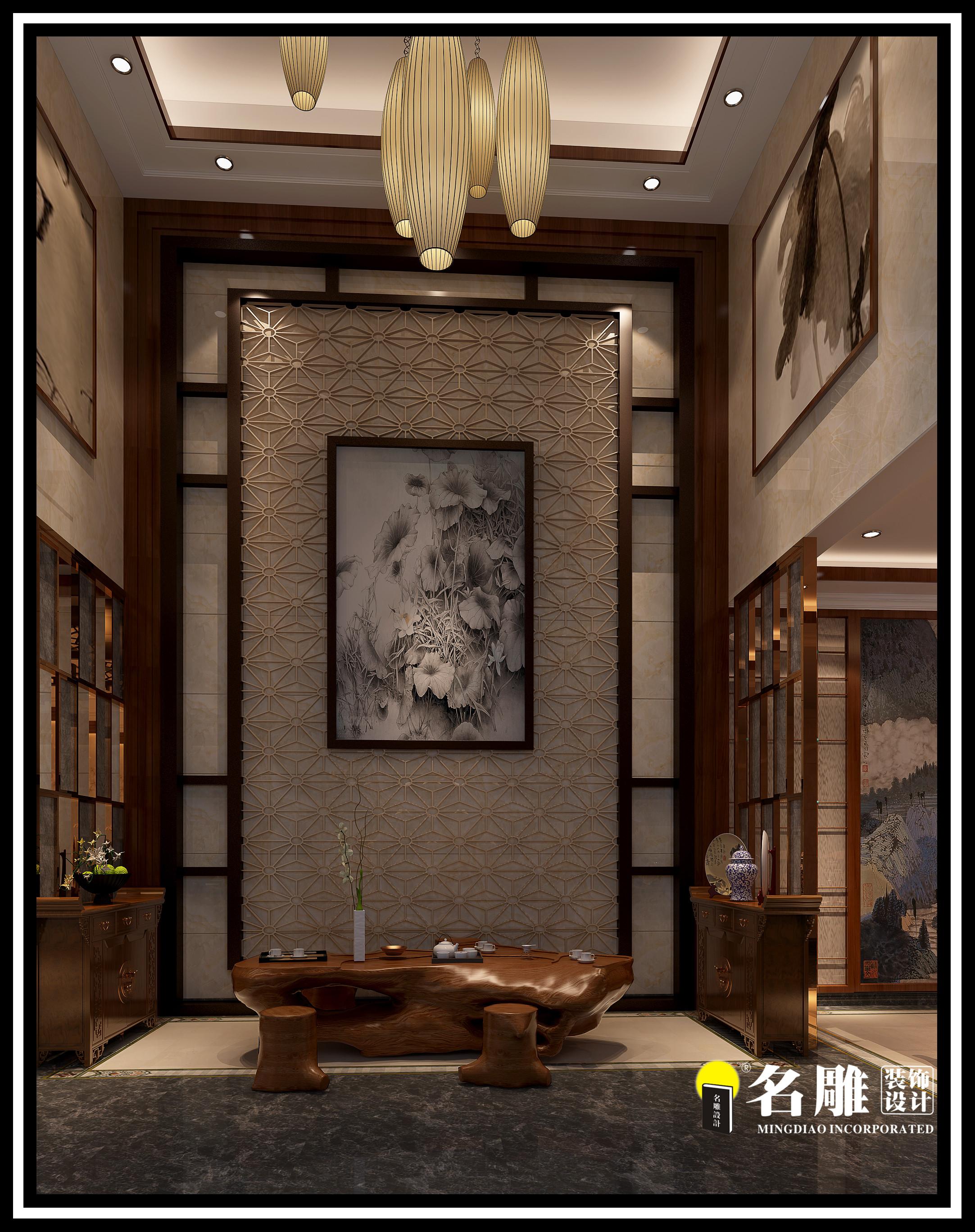 中式 四居室 安宁 祥和感 自然、清新 其他图片来自名雕装饰长沙分公司在湘江豪庭中式四居室的分享