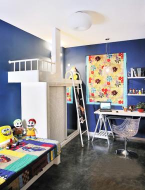 混搭 简约 文艺青年 色彩艺术 卧室图片来自业之峰装饰旗舰店在文艺小青年色彩艺术两居的分享