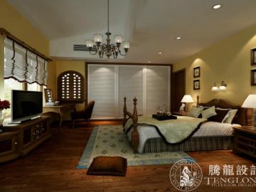 圣得庄园350平别墅装修美式设计