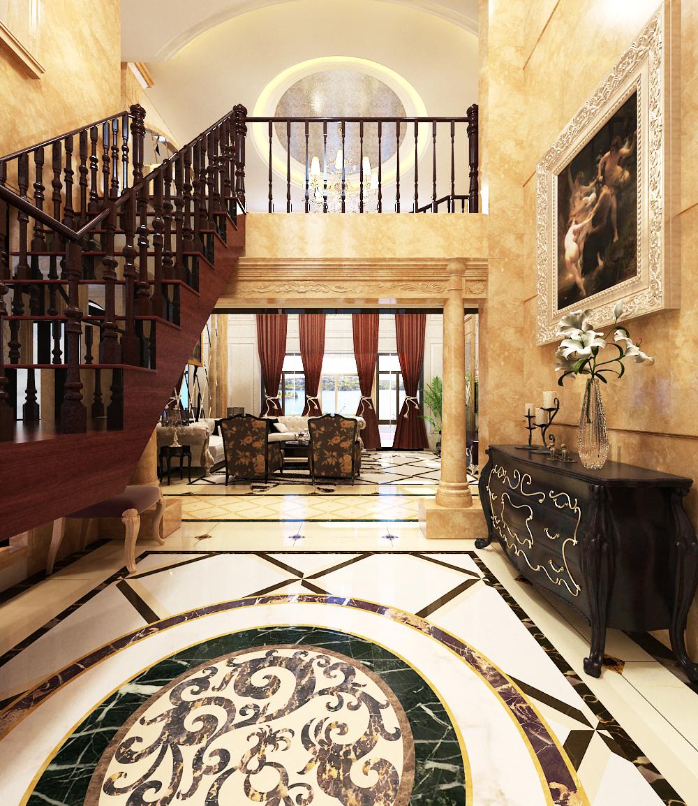 欧式 别墅 80后 楼梯图片来自乐豪斯-卜杨烁在鹿锦苑210平欧式的极致展现的分享