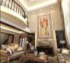 奢华的欧式风格在别墅的装饰中最能发挥的淋漓尽致,挑高的装饰墙,让人感到恢宏的气势,运用马赛克的色彩与抽象画的结合在灯光的照射下,展现出流光溢彩的效果。
