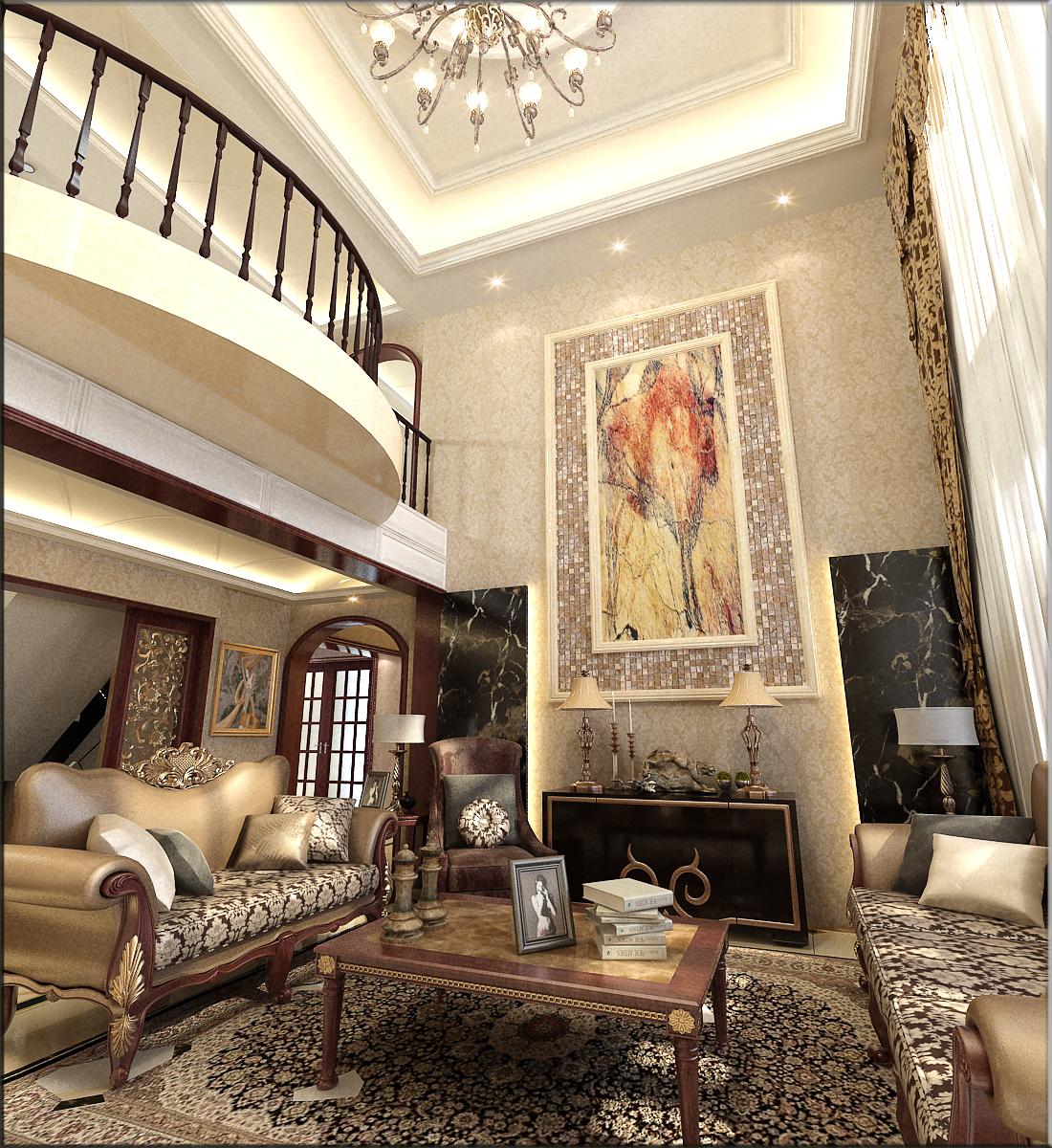 欧式 别墅 80后 客厅图片来自乐豪斯-卜杨烁在鹿锦苑210平欧式的极致展现的分享