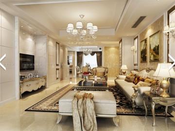 新江湾城122平公寓装修简欧风格