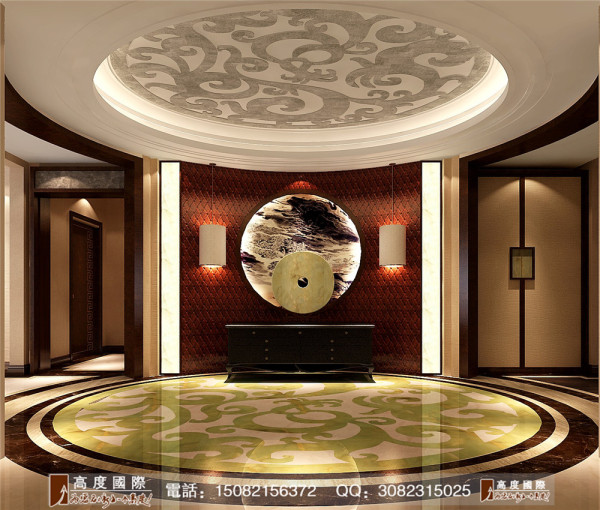 蔚蓝卡地亚玄关细节效果图---高度国际装饰设计