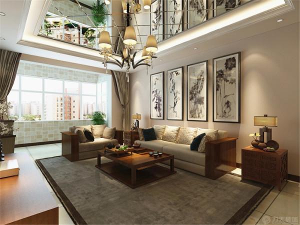 该户型瑞鑫家园三室两厅一厨两卫120㎡。这套户型主要设计风格是新中式风格。