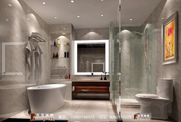 蔚蓝卡地亚卫生间细节效果图---高度国际装饰设计
