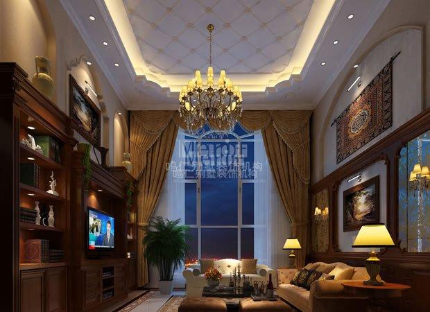 客厅图片来自鸣仁装饰在600平美式风格的分享