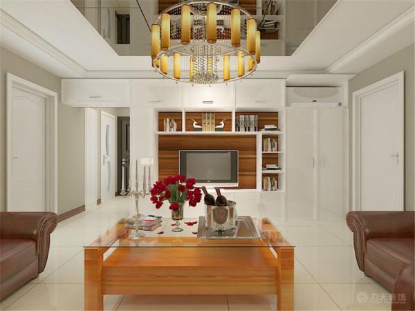 本户型为两室一厅一厨一卫107平米的户型。设计为现代简约风格。