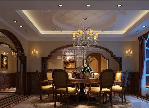 餐厅图片来自鸣仁装饰在600平美式风格的分享