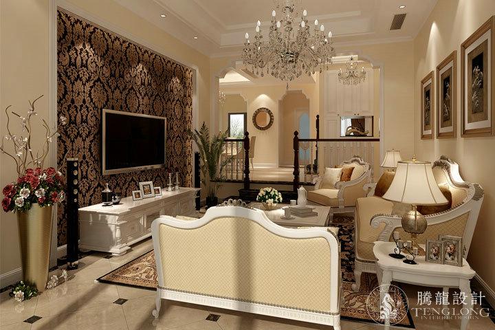 富力湾 别墅装修 别墅设计 美式风格 腾龙设计 林财表作品 客厅图片来自林财表在富力湾联排别墅美式风格设计的分享