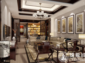 览海高尔夫别墅现代简欧风格设计