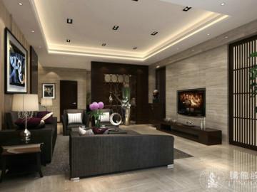 皇都花园300平别墅现代风格设计