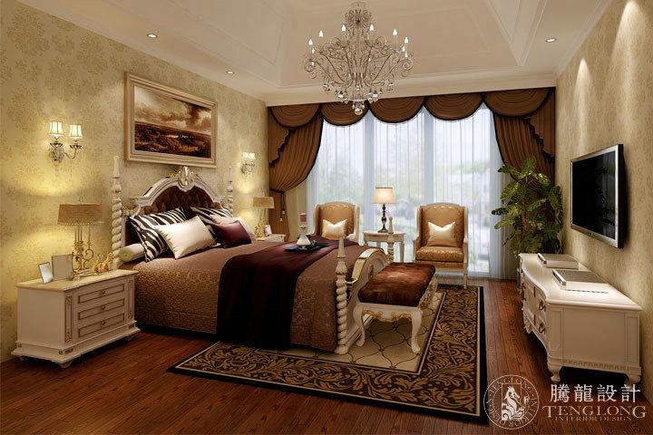 富力湾 别墅装修 别墅设计 美式风格 腾龙设计 林财表作品 卧室图片来自林财表在富力湾联排别墅美式风格设计的分享
