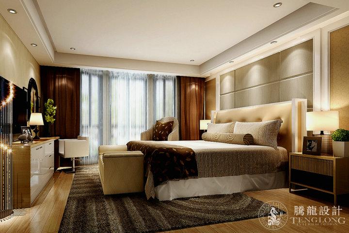 华仁大厦 装修设计 简约美式 腾龙设计 林财表作品 卧室图片来自林财表在华仁大厦三房装修设计方案的分享