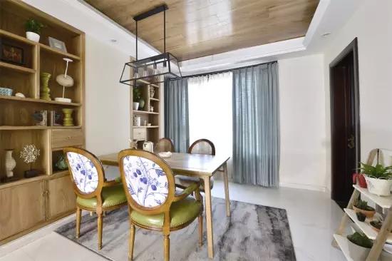 三居 田园 欧式 客厅 卧室 厨房 餐厅 玄关 白色 餐厅图片来自实创装饰晶晶在大唐国际130平欧式田园三居之家的分享