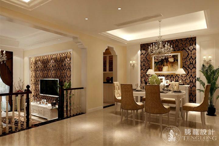 富力湾 别墅装修 别墅设计 美式风格 腾龙设计 林财表作品 餐厅图片来自林财表在富力湾联排别墅美式风格设计的分享