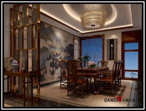 中式 别墅 祥和感 温馨 稳重 自然、清新 餐厅图片来自名雕丹迪在中洲中央公园中式别墅的分享
