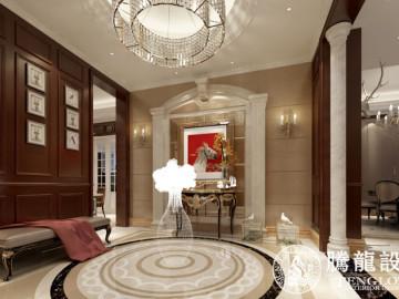 新华路1号别墅装修美式风格设计