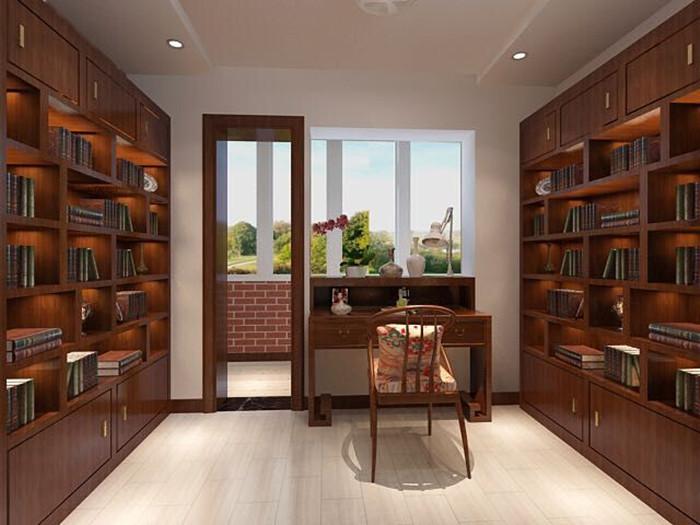 二居 白领 收纳 旧房改造 80后 小资 书房图片来自今朝老房专家在北欧风格效果图的分享