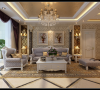 房子的整体设计选用淡雅的欧式设计,给人一种梦幻唯美的感觉。房子整体使用的色调淡雅清馨,既有一些欧式贵族的奢华感,又有家的温馨与归属感。客厅电视墙选用白色镂空造型,增加了整体的空间透视效果。