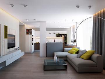 轻松随意的现代化两居室