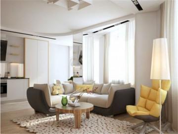 柔和色调的现代公寓住宅