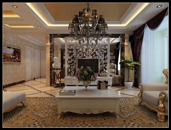 简约 欧式 别墅 80后 客厅图片来自乐豪斯-卜杨烁在翰林怡园250平米简欧效果展示。的分享